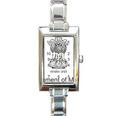 Seal Of Indian State Of Mizoram Rectangle Italian Charm Watch by abbeyz71