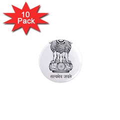 Seal Of Indian State Of Mizoram 1  Mini Magnet (10 Pack)  by abbeyz71