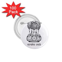 Seal Of Indian State Of Mizoram 1 75  Buttons (100 Pack)  by abbeyz71