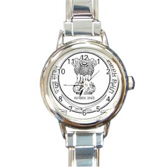 Seal Of Indian State Of Punjab Round Italian Charm Watch by abbeyz71
