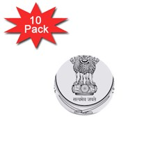 Seal Of Indian State Of Punjab 1  Mini Buttons (10 Pack)  by abbeyz71