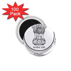 Seal Of Indian State Of Punjab 1 75  Magnets (100 Pack)  by abbeyz71