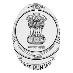 Seal Of Indian State Of Punjab Oval Ornament (two Sides) by abbeyz71