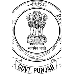 Seal Of Indian State Of Punjab 5 5  X 8 5  Notebooks by abbeyz71