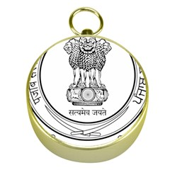 Seal Of Indian State Of Punjab Gold Compasses by abbeyz71