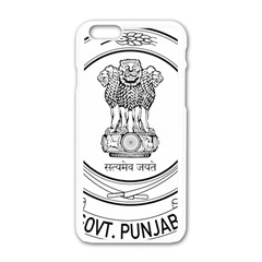 Seal Of Indian State Of Punjab Apple Iphone 6/6s White Enamel Case by abbeyz71