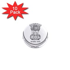 Seal Of Indian State Of Punjab 1  Mini Magnet (10 Pack)  by abbeyz71