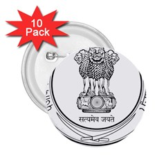 Seal Of Indian State Of Punjab 2 25  Buttons (10 Pack)  by abbeyz71