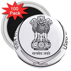 Seal Of Indian State Of Punjab 3  Magnets (100 Pack) by abbeyz71