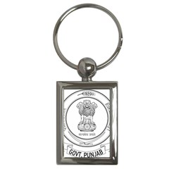 Seal Of Indian State Of Punjab Key Chains (rectangle)  by abbeyz71