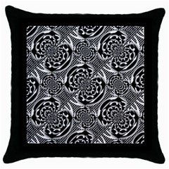 Metallic Mesh Pattern Throw Pillow Case (black) by linceazul