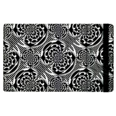 Metallic Mesh Pattern Apple Ipad 2 Flip Case by linceazul
