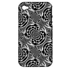 Metallic Mesh Pattern Apple Iphone 4/4s Hardshell Case (pc+silicone) by linceazul