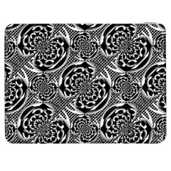 Metallic Mesh Pattern Samsung Galaxy Tab 7  P1000 Flip Case by linceazul