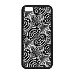 Metallic Mesh Pattern Apple Iphone 5c Seamless Case (black) by linceazul