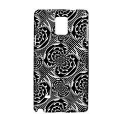 Metallic Mesh Pattern Samsung Galaxy Note 4 Hardshell Case by linceazul