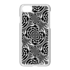 Metallic Mesh Pattern Apple iPhone 7 Seamless Case (White) by linceazul