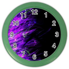 Fire Color Wall Clocks by Valentinaart