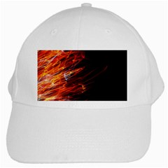 Fire White Cap by Valentinaart
