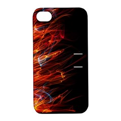 Fire Apple Iphone 4/4s Hardshell Case With Stand by Valentinaart