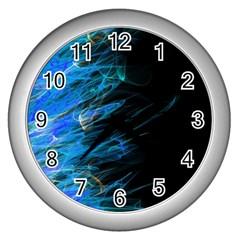 Fire Wall Clocks (silver)  by Valentinaart