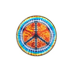 Tie Dye Peace Sign Hat Clip Ball Marker by Gogogo