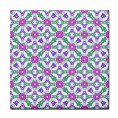 Multicolor Ornate Check Tile Coasters by dflcprints