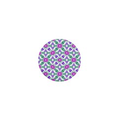 Multicolor Ornate Check 1  Mini Buttons by dflcprints