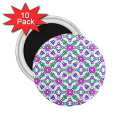 Multicolor Ornate Check 2 25  Magnets (10 Pack)  by dflcprints