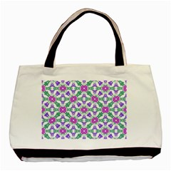 Multicolor Ornate Check Basic Tote Bag by dflcprints