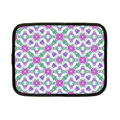 Multicolor Ornate Check Netbook Case (small)  by dflcprints