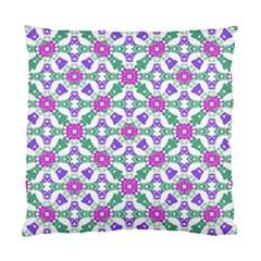 Multicolor Ornate Check Standard Cushion Case (one Side) by dflcprints