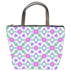 Multicolor Ornate Check Bucket Bags by dflcprints
