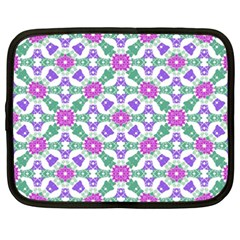 Multicolor Ornate Check Netbook Case (xxl)  by dflcprints