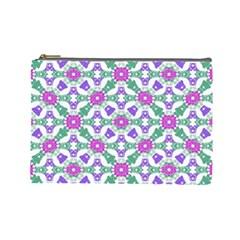 Multicolor Ornate Check Cosmetic Bag (large)  by dflcprints
