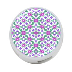 Multicolor Ornate Check 4 Port Usb Hub (one Side) by dflcprints
