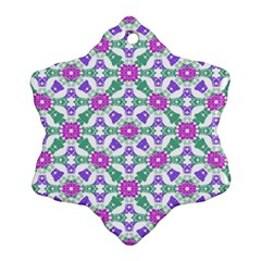 Multicolor Ornate Check Ornament (snowflake) by dflcprints