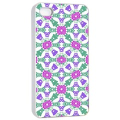 Multicolor Ornate Check Apple Iphone 4/4s Seamless Case (white) by dflcprints