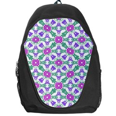 Multicolor Ornate Check Backpack Bag by dflcprints