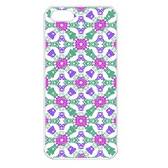Multicolor Ornate Check Apple Iphone 5 Seamless Case (white) by dflcprints