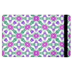Multicolor Ornate Check Apple Ipad 3/4 Flip Case by dflcprints