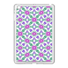 Multicolor Ornate Check Apple Ipad Mini Case (white) by dflcprints
