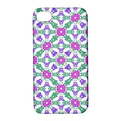Multicolor Ornate Check Apple Iphone 4/4s Hardshell Case With Stand by dflcprints