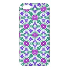 Multicolor Ornate Check Apple Iphone 5 Premium Hardshell Case by dflcprints