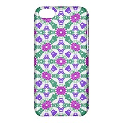 Multicolor Ornate Check Apple Iphone 5c Hardshell Case by dflcprints