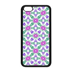 Multicolor Ornate Check Apple Iphone 5c Seamless Case (black) by dflcprints