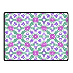 Multicolor Ornate Check Double Sided Fleece Blanket (small)  by dflcprints