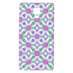 Multicolor Ornate Check Galaxy Note 4 Back Case by dflcprints
