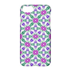 Multicolor Ornate Check Apple Iphone 7 Hardshell Case by dflcprints