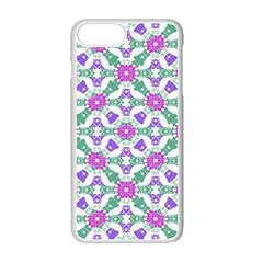 Multicolor Ornate Check Apple Iphone 7 Plus White Seamless Case by dflcprints